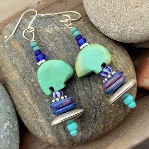 Turquoise Mother Bear Earrings